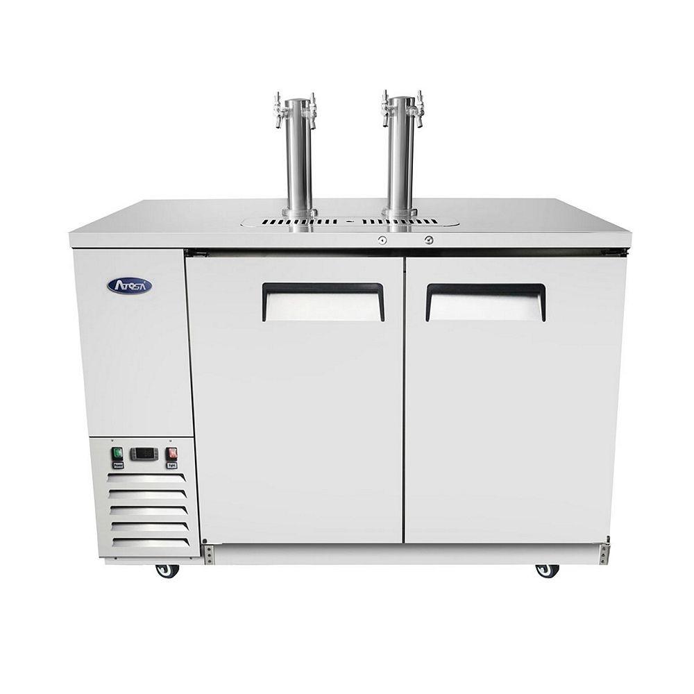 """Atosa MKC58 Dual Faucet Draft Beer Keg Cooler 58"""""""