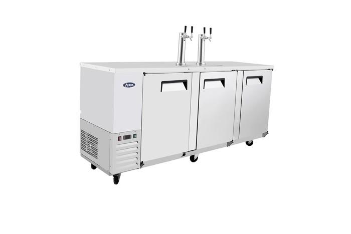 """Atosa MKC90GR Dual Faucet Draft Beer Keg Cooler 90"""""""