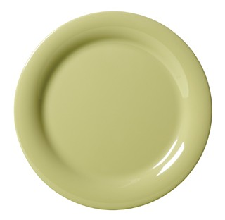 G.E.T. Enterprises NP-10-AV Diamond Harvest Avocado Melamine Narrow Rim Plate 10-1/2""
