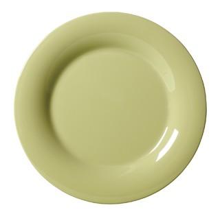 """G.E.T. Enterprises WP-10-AV Diamond Harvest Avocado Melamine Wide Rim Plate 10-1/2"""""""