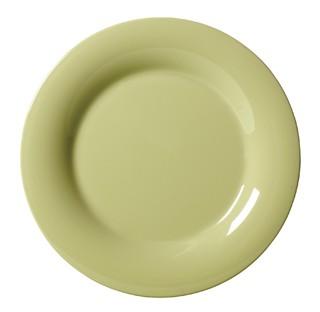 """G.E.T. Enterprises WP-12-AV Diamond Harvest Avocado Melamine Wide Rim Plate 12"""""""