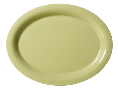 "G.E.T. Enterprises OP-120-AV Diamond Harvest Avocado Melamine 12"" x 9"" Oval Platter,"