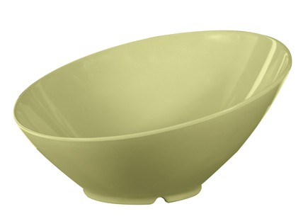 G.E.T. Enterprises B-792-AV Diamond Harvest Avocado 24 oz. Melamine Cascading Bowl