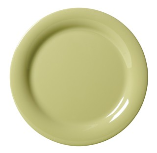 G.E.T. Enterprises NP-6-AV Diamond Harvest Avocado Melamine Narrow Rim Plate 6-1/2""