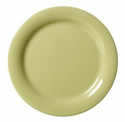 G.E.T. Enterprises NP-7-AV Diamond Harvest Avocado Melamine Narrow Rim Plate 7-1/4""