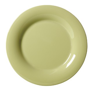 G.E.T. Enterprises WP-7-AV Diamond Harvest Avocado Melamine Wide Rim Plate 7-1/2""