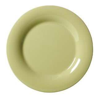 """G.E.T. Enterprises WP-7-AV Diamond Harvest Avocado Melamine Wide Rim Plate 7-1/2"""""""
