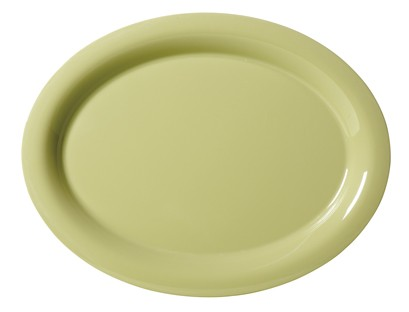 "G.E.T. Enterprises OP-950-AV Diamond Harvest Avocado Melamine 9-3/4"" x 7-1/4"" Oval Platter,"