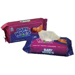 Baby Wipes Refill Pack, Scented, White, 80/Pack