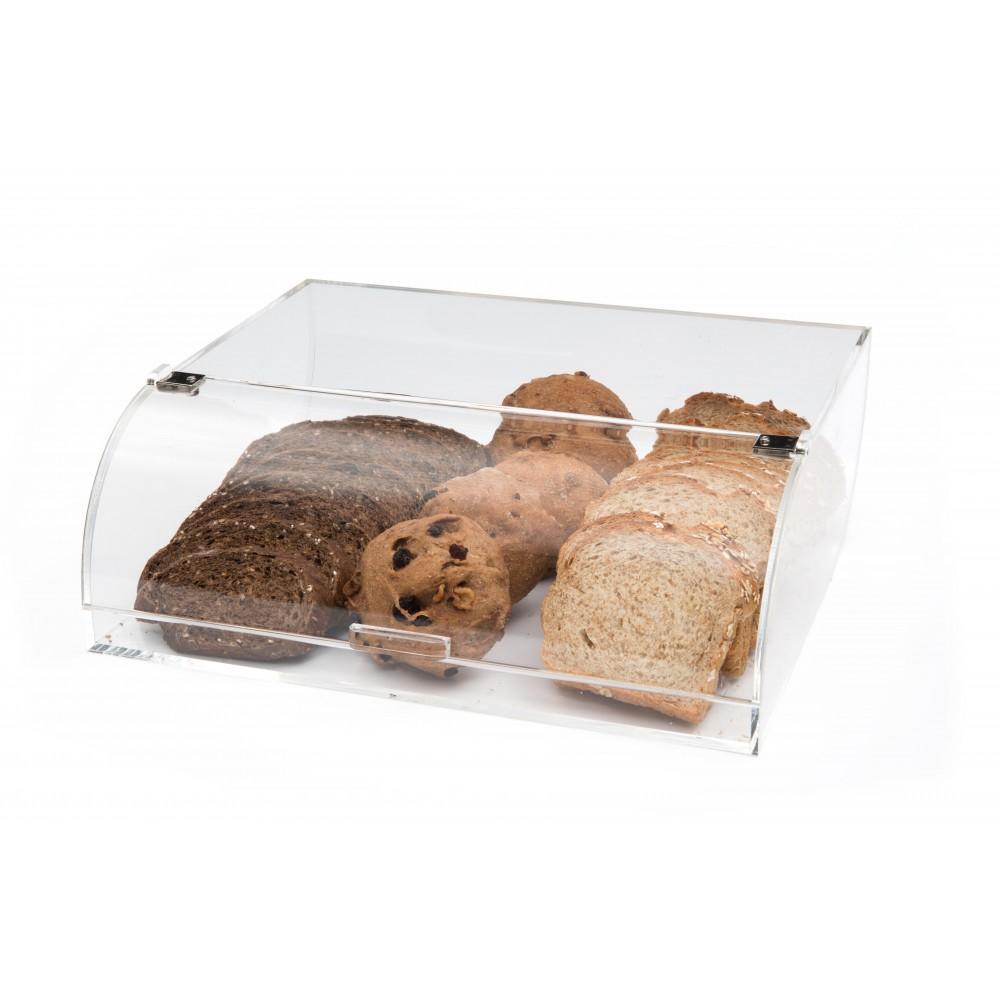"""Rosseto BAKST2248 Clear Acrylic Short Bakery Display Case With Flip Door 12"""" x 15"""" x 5"""""""