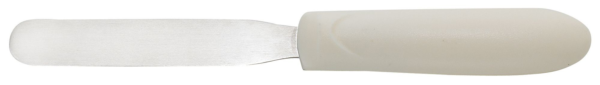 "Winco TWPS-4 Bakery Spatula 4-1/4"" Blade, White Polypropylene Handle"