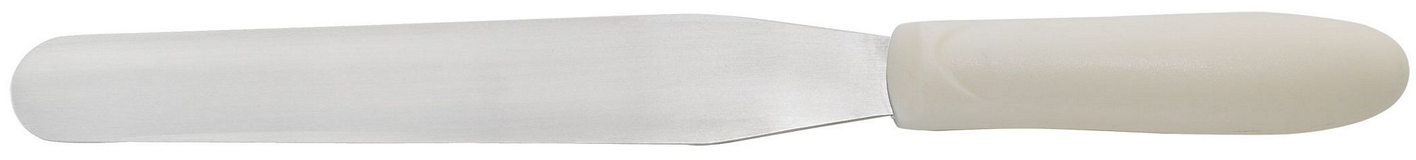 "Winco TWPS-7 Bakery Spatula 7 3/4"" Blade, White Polypropylene Handle"