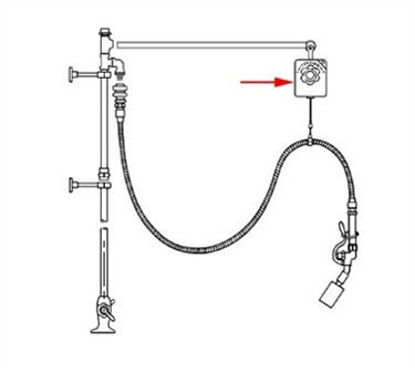 Franklin Machine Products  111-1005 Balance, Hose (T-40 Pre-Rinse )