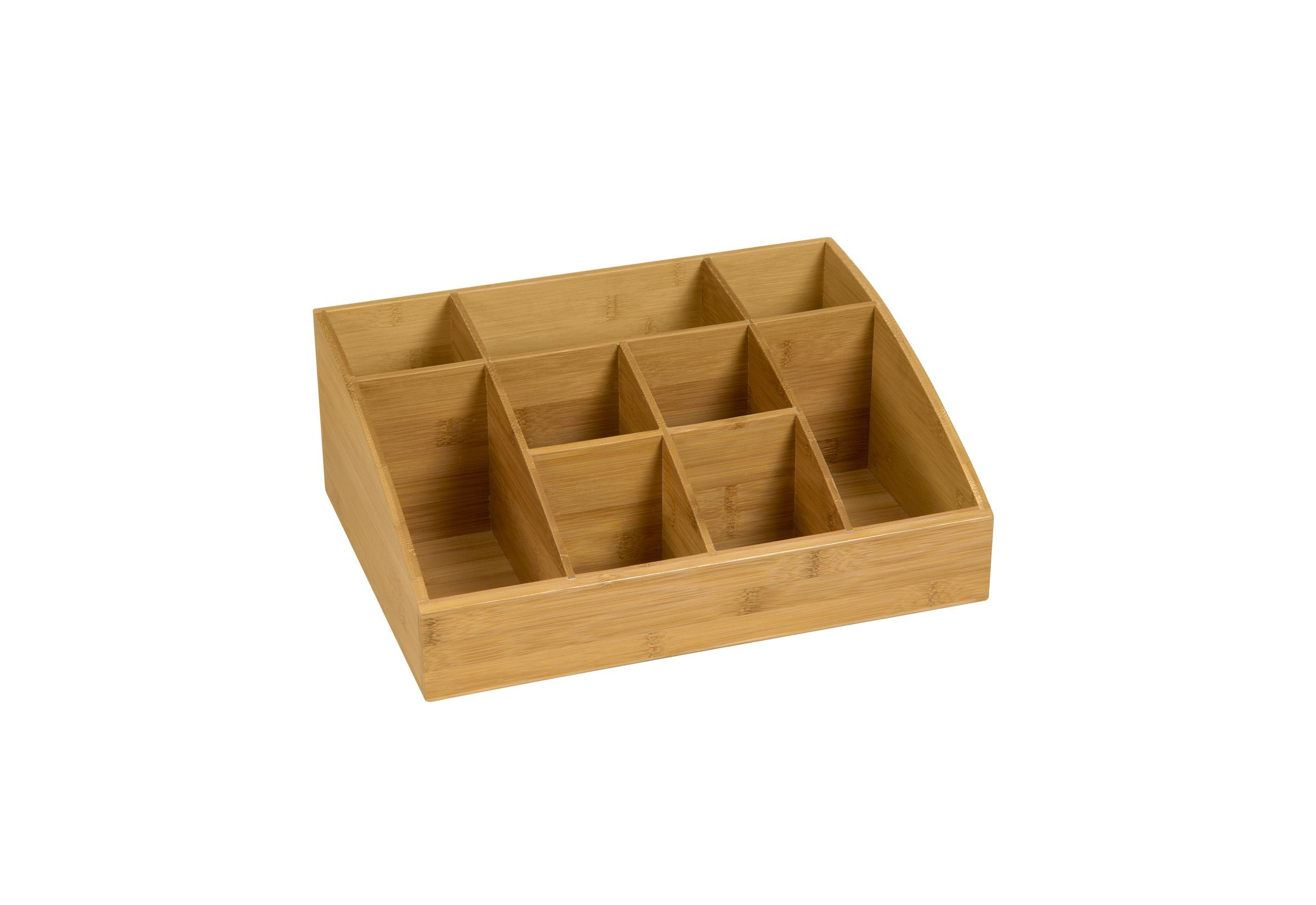 Bamboo Organizer 9 Compartment- 16