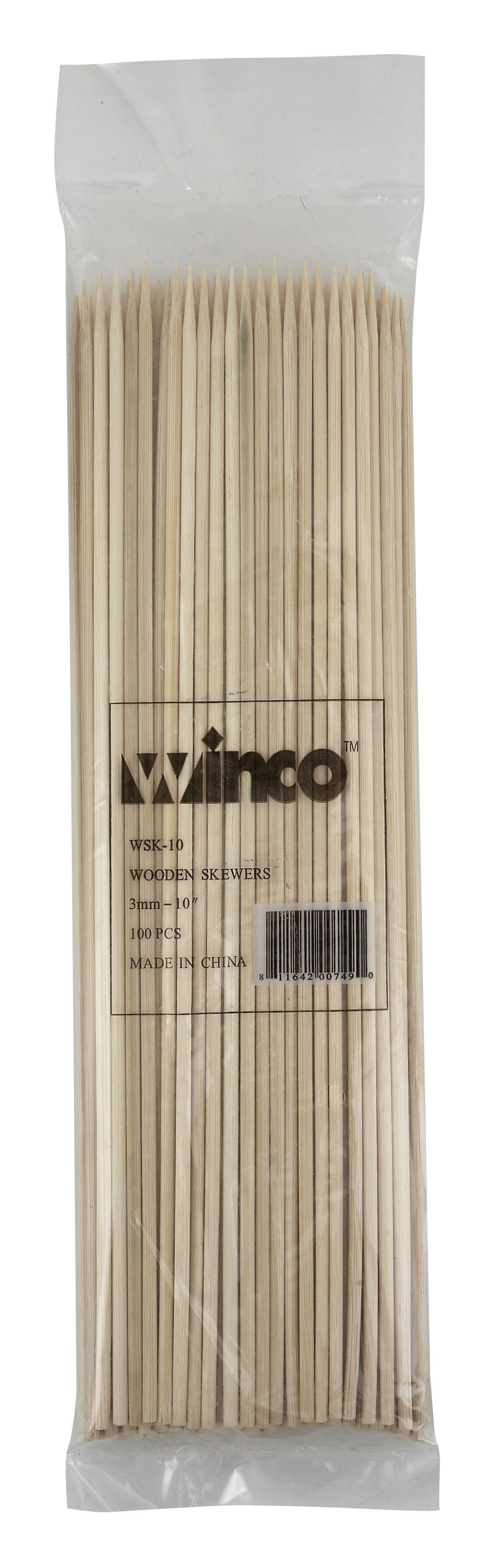 "Winco WSK-10 Bamboo Skewers 10"""
