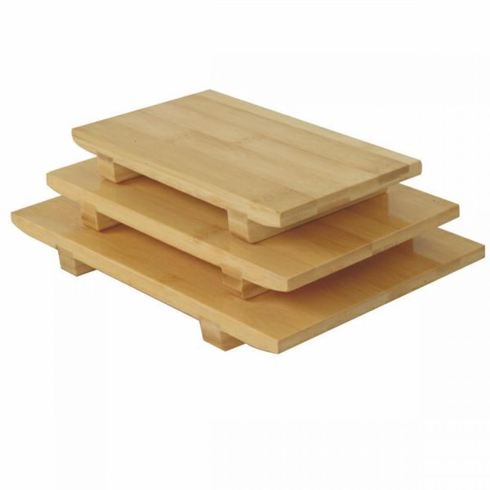 """Thunder Group WSPB002 Medium Bamboo Sushi Plate 9-1/2"""" x 6"""""""
