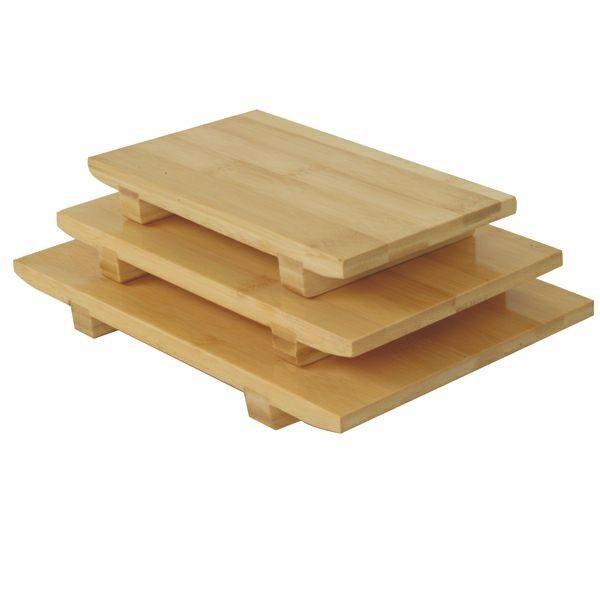 "Thunder Group WSPB001 Small Bamboo Sushi Plate 8-1/2"" x 4-3/4"""