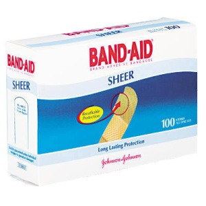 Bandages, 3/4 x 3 , Flexible Fabric, Adhesive