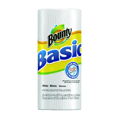 Basic Paper Towels, 11 x 10 2/5, White, 52/Roll
