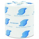 Bathroom Tissue, Standard, White, 1-Ply, 4.5 x 3 Sheet, 1000 Sheets/Roll