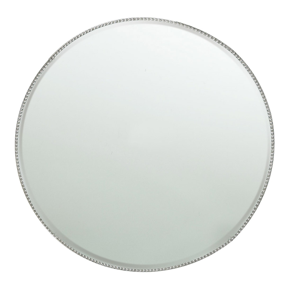 "Jay Import 1331677 Chargeit! By Jay Bead Mirror Glass 13"" Charger Plate"