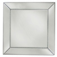 """Jay Import 1331678 Chargeit! By Jay Bead Square Mirror 13"""" Charger Plate"""
