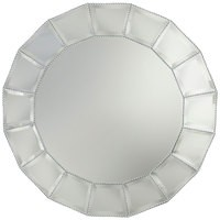 Beaded Accent Mirror Charger- Glass