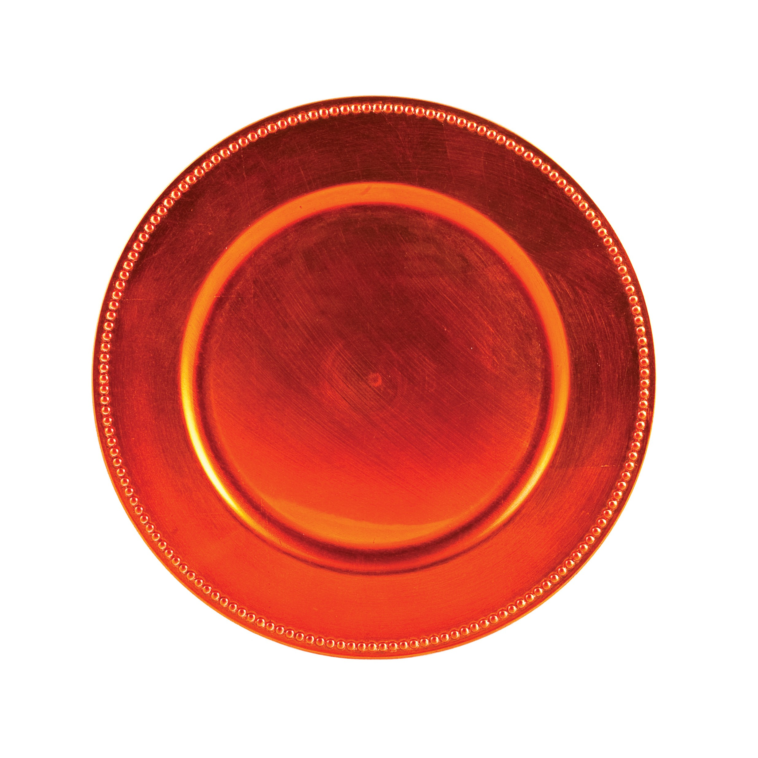 "Ya Ya Creations CHRG_1302_ORNG Beaded Orange 13"" Charger Plate"
