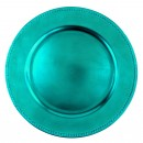 "Beaded Charger Plate Aqua  13""  Box of 24"