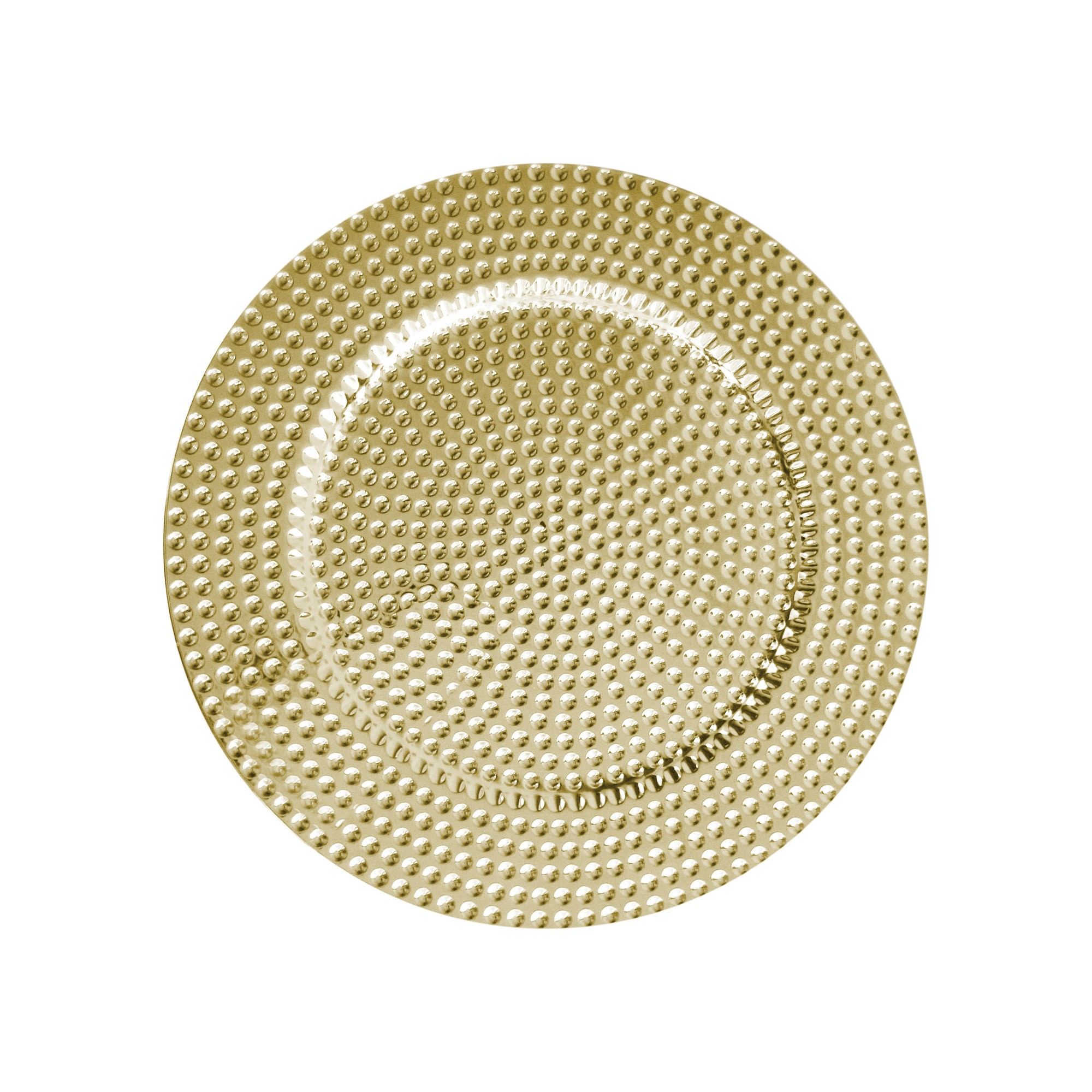 Beaded Gold Charger Plates Melamine
