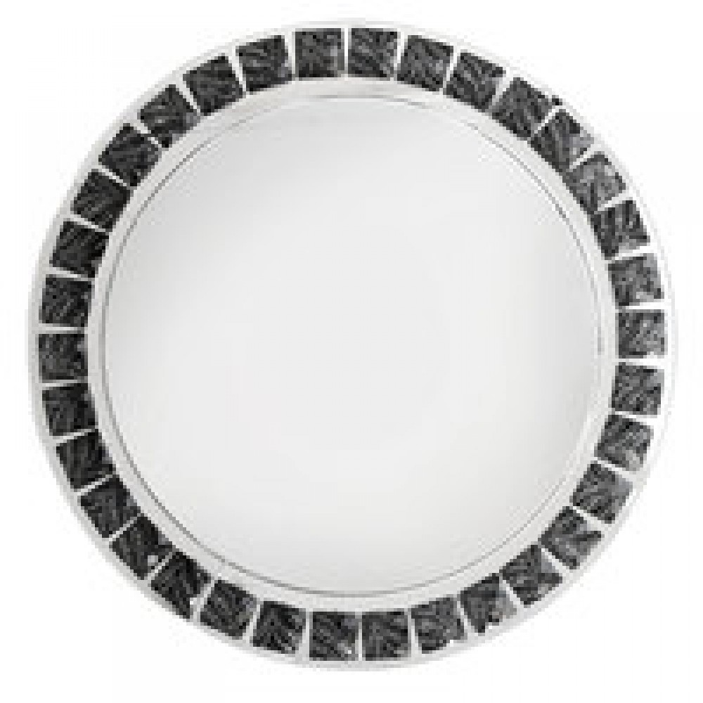 "Jay Import 1332639 Beaded Metallic Black 13"" Charger Plate"