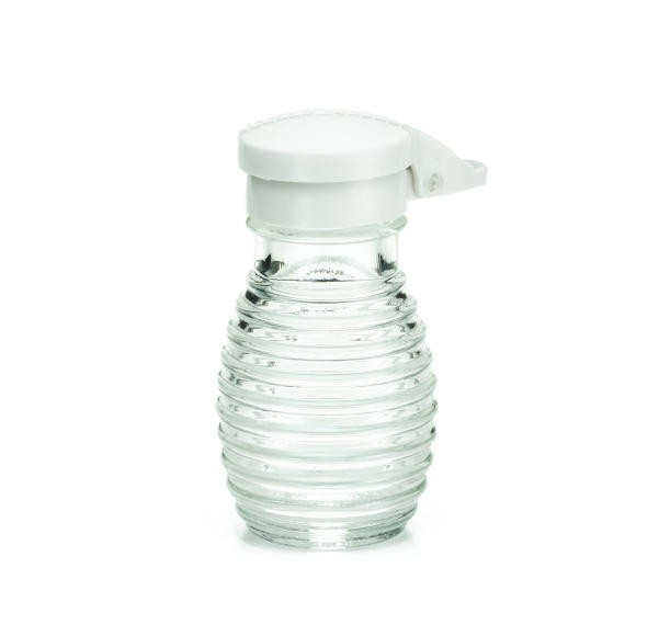 TableCraft BH2MPW Beehive 2 oz. Glass Salt & Pepper Shaker with White ABS Flip Top