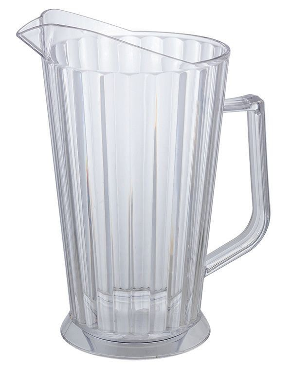 Winco WPCB-60 Clear Polycarbonate 60 oz. Beer Pitcher
