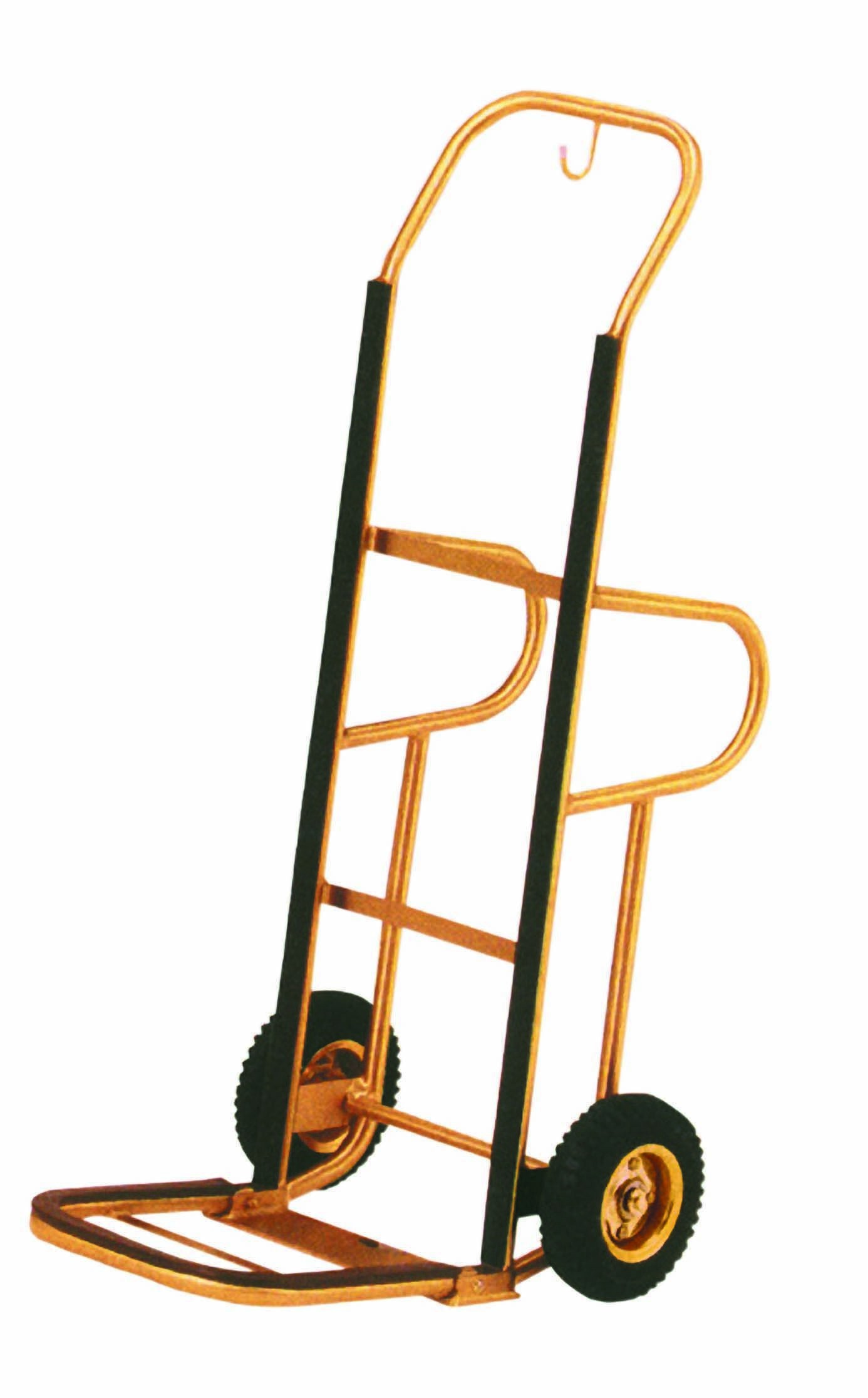 Aarco Products HT-1B Bellman's Luggage Hand Truck, Brass Finish