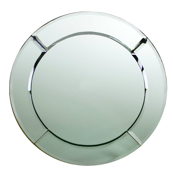 "Jay Import 1330051 Beveled Round Mirror Glass 13"" Charger Plate"