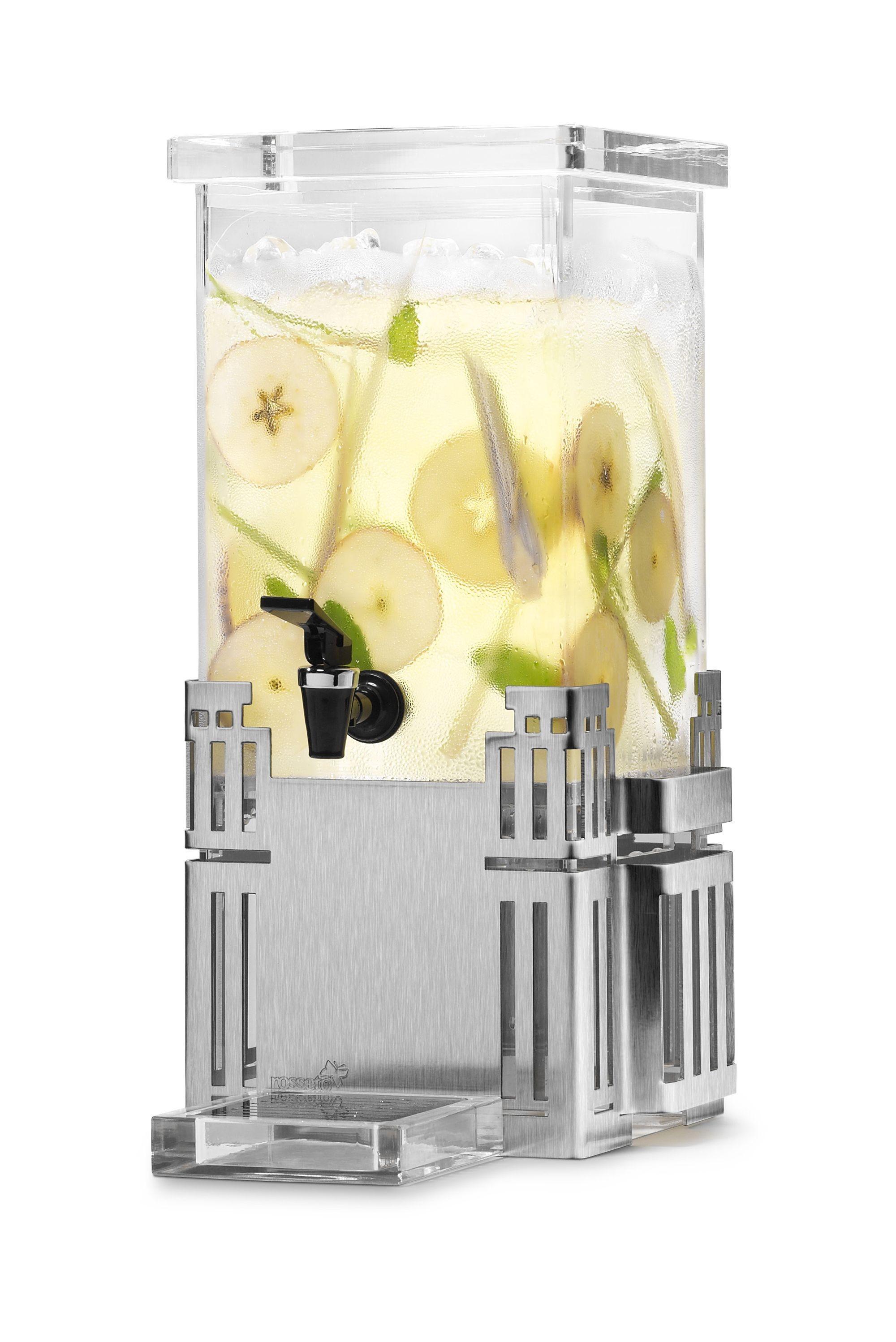 Rosseto LD117 Rectangular Stainless Steel Base Beverage Dispenser 1 Gallon