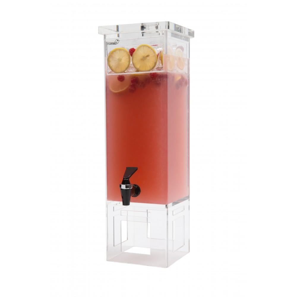Rosseto LD111 Rectangular Acrylic Base Beverage Dispenser 2 Gallon