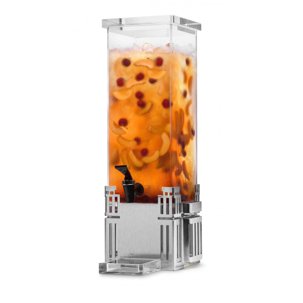 Rosseto LD113 Rectangular Stainless Steel Base Beverage Dispenser 2 Gallon