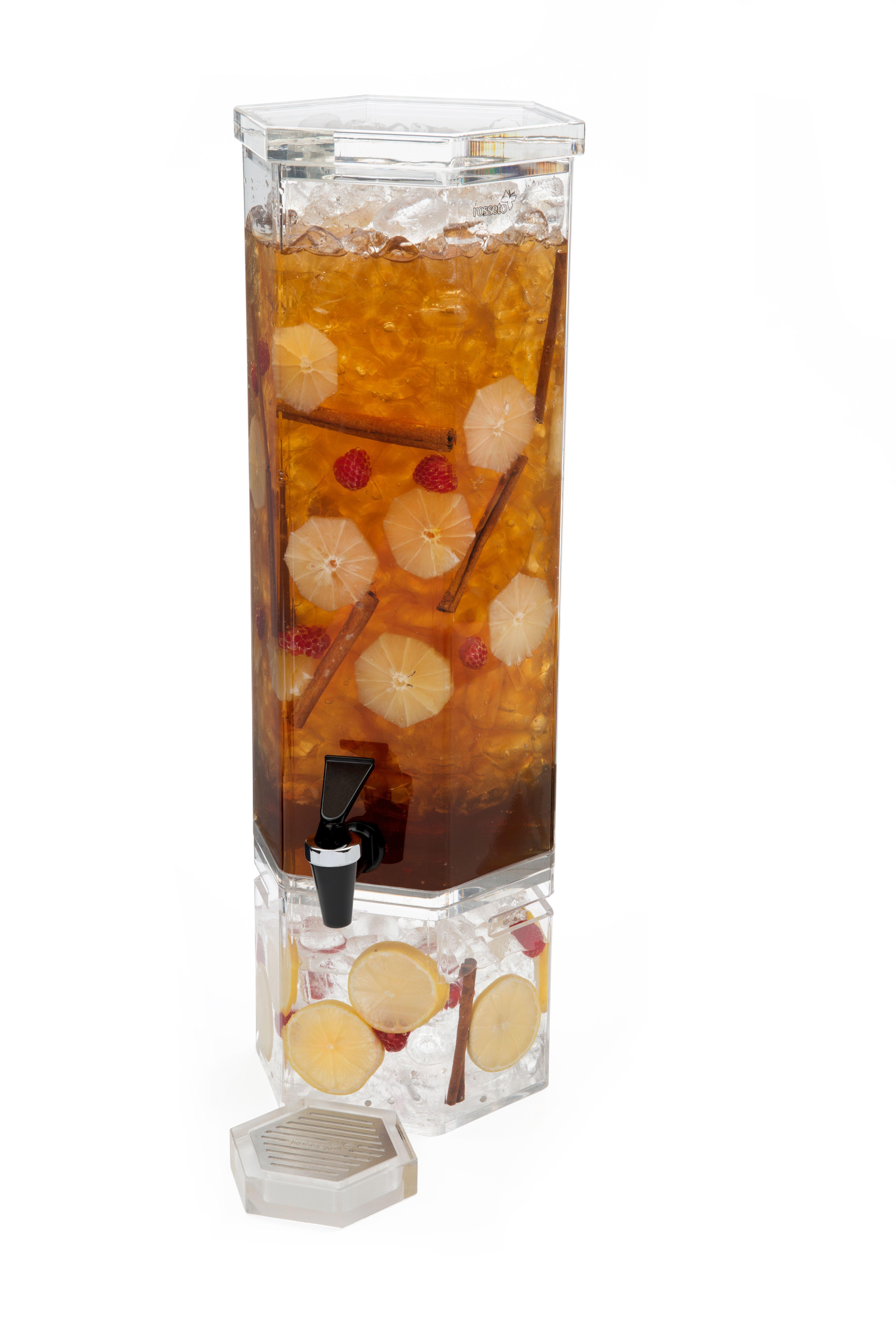 Rosseto LD105 Honeycomb Acrylic Base Beverage Dispenser 2 Gallon