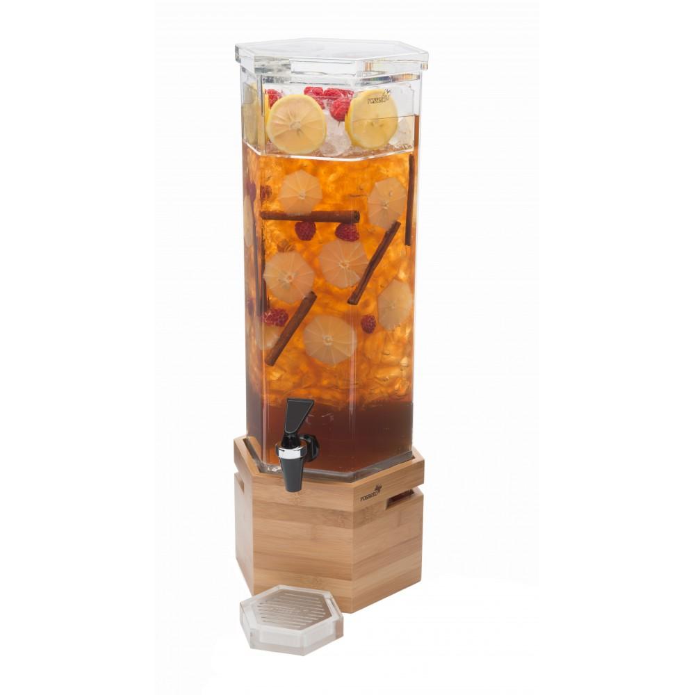 Rosseto LD114 Honeycomb™ 2 Gallon Bamboo Base Beverage Dispenser