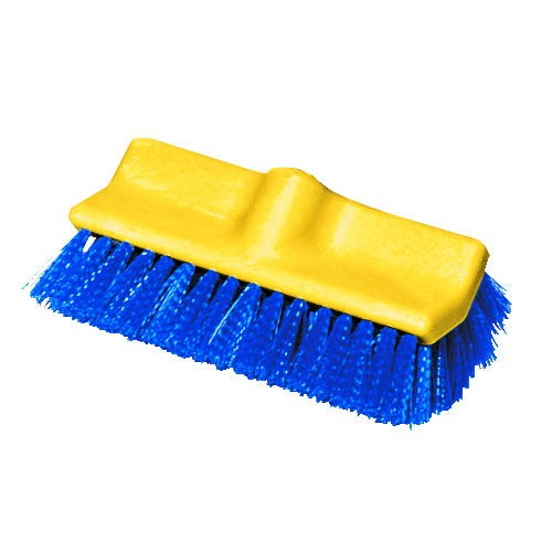 Bi-Level Deck Scrub Brush, Polypropylene Fibers, 10
