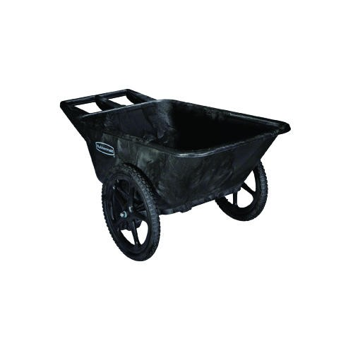 Big Wheel Utility Cart, 300 lb Capacity, 7.5 Cubic, Black