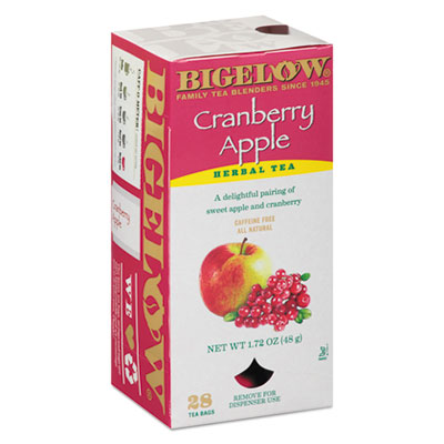 Bigelow Cranberry Apple Herbal Tea, 28/Box