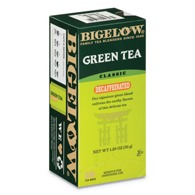 Bigelow Decaffeinated Green Tea, Green Decaf, 0.34 lbs, 28/Box