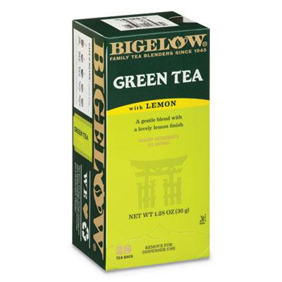 Bigelow Green Tea with Lemon, Lemon, 0.34 lbs, 28/Box