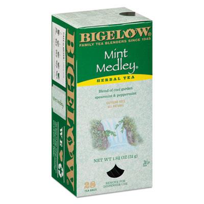 Bigelow Mint Medley Herbal Tea, 28/Box