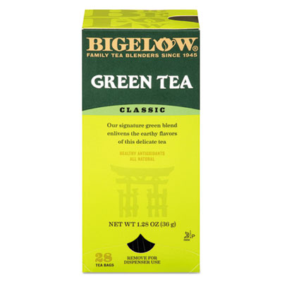 Bigelow Single Flavor Tea, Green, 28 Bags/Box