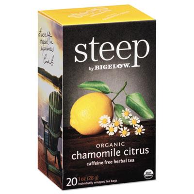 Bigelow Steep Tea, Chamomile Citrus Herbal, 1 oz. Tea Bag, 20/Box