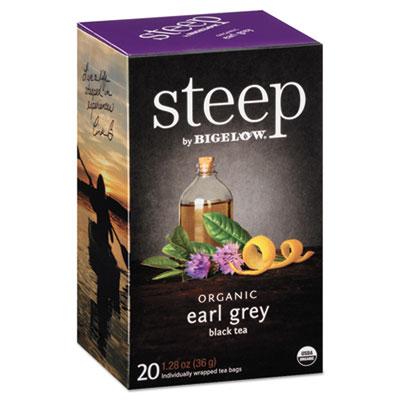 Bigelow Steep Tea, Earl Grey, 1.28 oz. Tea Bag, 20/Box