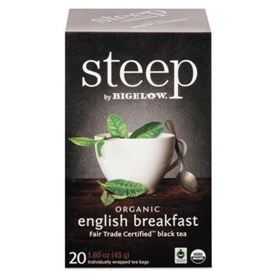 Bigelow Steep Tea, English Breakfast, 1.6 oz. Tea Bag, 20/Box